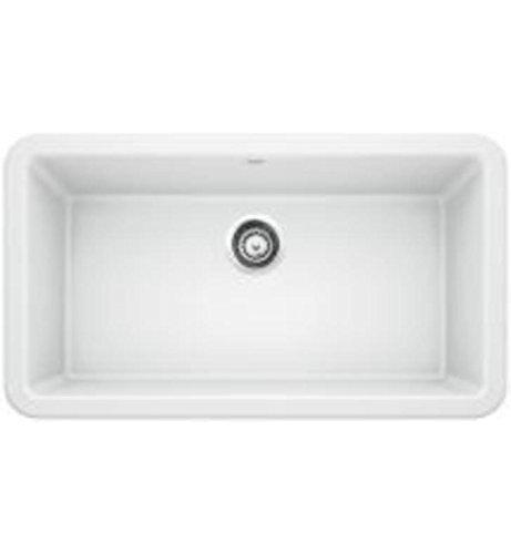 Blanco IKON 33u0022 Apron Single Bowl SILGRANIT Sink White