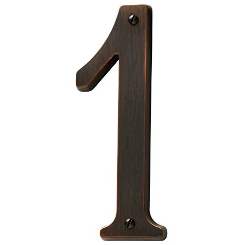 Baldwin Estate 90671.112.CD Solid Brass Traditional House Number One in Venetian Bronze, ()