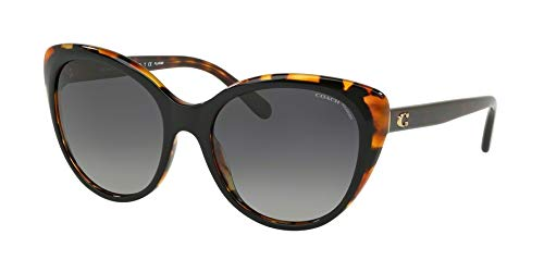 COACH Women's 0HC8260 55mm Tortoise/Black Polarized Lens One Size