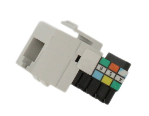 Leviton 41106-RW6 Voice Grade QuickPort Connector, White Leviton Phone Module