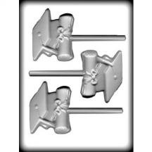 8H-13531 Cap/Diploma Sucker Hard Candy Mold Package of 3
