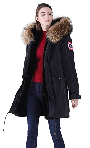 S.ROMZA Womens Hooded Parka Jacket Warm Faux Fur Lined for sale  Delivered anywhere in USA
