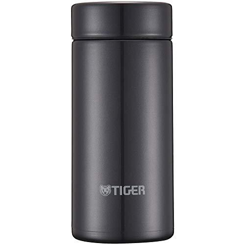 Tiger water bottle 200ml straight drinking stainless mini bottle smooth drinking Sahara mug lightweight dream gravity powder black MMP-J020KP