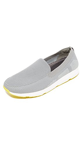 SWIMS Men's Breeze Leap Knit Loafers, Light Grey/Yellow, ...