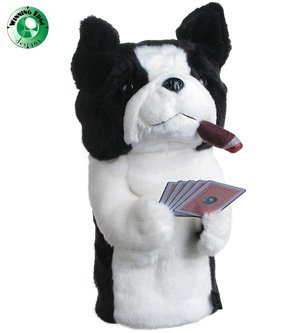 Winning Edge Designs Poker Playing Boston Terrier Jack Head Cover, Outdoor Stuffs