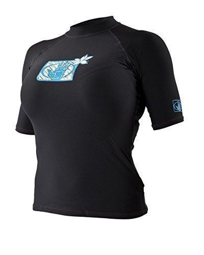 Body Glove Women's Short Sleeve Wetsuit Rash Vest Large Black