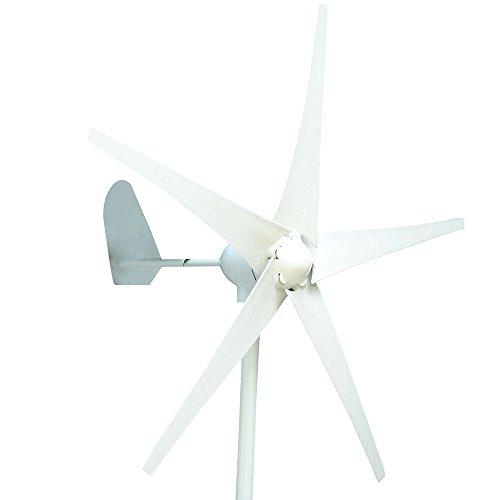 HUKOER Wind Turbine Generator Waterproof Wind Controller 12v/24v 300w/400w/500w 5 Blades Low Wind Speed Starting Top Rated NSK Bearings Garden Street Lights Wind Turbines