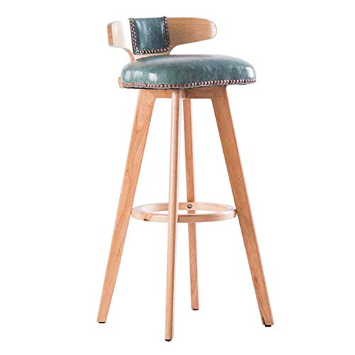 SZPZC Barstools Chair, Footrest PU Swivel Seat Backrest, High Stools Dining Chairs for Breakfast Kitchen | Pub | Café Bar Stool Max. Load 440lb in Blue Bar Chairs 27' Square Bar Table