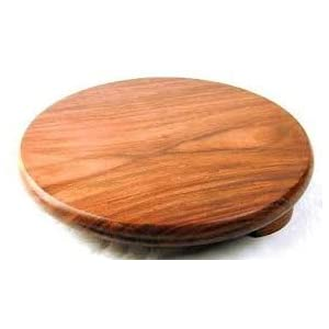 India Bazaar Indian Wooden Chapati Roti Puri Rolling Board (21.5cm Dia) 5