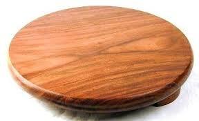 India Bazaar Indian Wooden Chapati Roti Puri Rolling Board (21.5cm Dia) 1