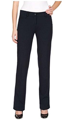 (HILARY RADLEY WOMENS STRAIGHT LEG, FLAT FRONT DRESS PANT (8x30, Navy))