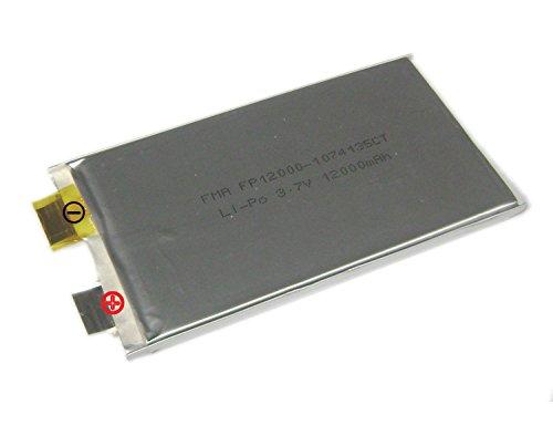 2X 3 7V 12000Mah Lipo Li Polymer Rechargeable Battery For Power Bank 1074135Mm