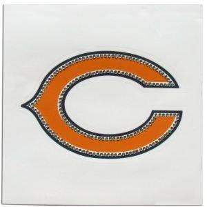 (NFL Chicago Bears Rhinestone Vinyl Decal)