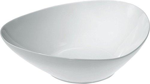 Alessi Colombina Tazón de ensalada para ensalada de 12-1 /4 pulgadas por 10-3 /4 pulgadas, porcelana blanca