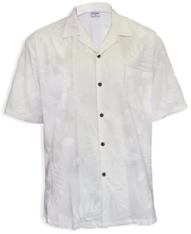White Wedding Men Hawaii Island Shirt, WHITE, XL (Aloha Island Resort)