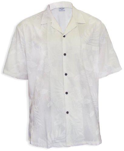 White Wedding Men Hawaii Island Shirt, WHITE, XL
