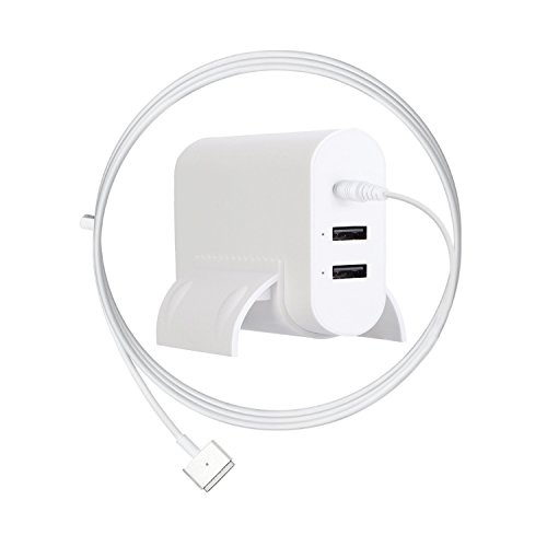 MacBook Pro Charger, Ponkor 85W T-tip Magsafe 2 Power Adaptor Charger with 2-Port USB for Apple Mac Book Pro 15 inch and 17 inch