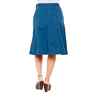 TWIST99 ® Women's Cotton Funky Stretchable Cargo Skirt (Grey ; 46)