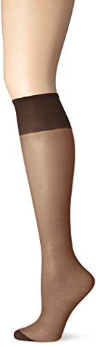 Just My Size Women's 4-Pack One size Knee High Panty Hose, Off Black, One Size (Just My Size Pantyhose Sheer Toe)