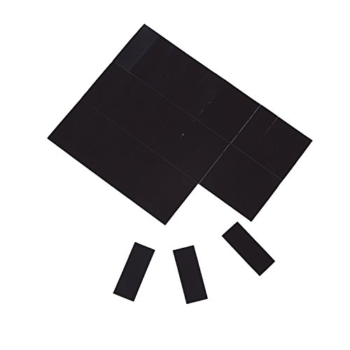 Sadzero Rectangle 5cmx2cm,30 PCS of Each Paper Self-Adhesive Magnetic Pieces, Thickness 1mm Adhesive Agnete with Extra Strong Adhesive Force-Black for Use in Refrigerator Door Seals,Etc.