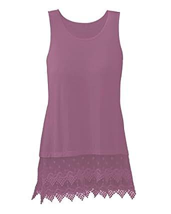 Kaktus Lace Hem Layering Camisole at Amazon Women's Clothing store:
