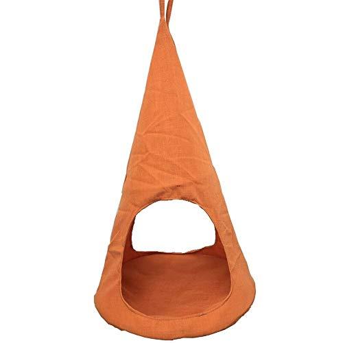FNCUR Small Cotton Linen Breathable Tent Swing Nest Sleeping Bag Supplies Mat Cage Summer Orange Grass Green Light Blue Spring Summer Autumn And Winter Seasons Universal Cat Litter Hammock Pet Hanging