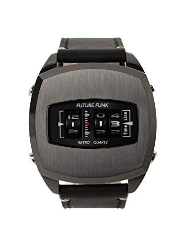 (빔스) BEAMS 시계 FUTURE FUNK FF101 ANA-DEGI 시계 (블랙 블랙) 남성 블랙 블랙