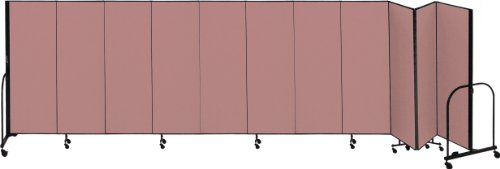 Screenflex Commercial Portable Room Divider (CFSL5011-DM) 5 Feet High by 20 Feet 5 Inches Long, Designer Rose Fabric ()