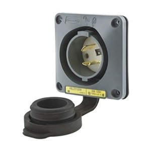Inlet, Twist Lock, 20 A, L5-20 by Hubbell Wiring - Hubbell 20 L5
