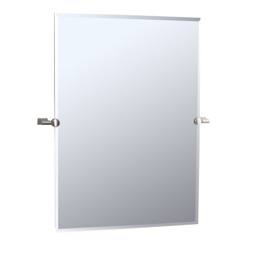 Gatco 4389S Bleu Rectangle Wall Mirror, Satin Nickel