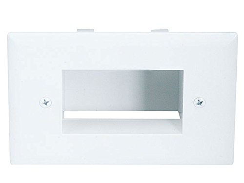 Monoprice Easy Mount Low Voltage Cable Recessed Wall Plate -