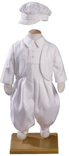 Boys Silk Shantung Christening Baptism Coverall/Jacket