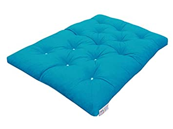 Memory Foam Futon Mattress 2 Seater UK Manufactured Fuchsia 3 9 Colours Available Guest Bed 190cm x 125cm MyLayabout Double Roll Out Bed