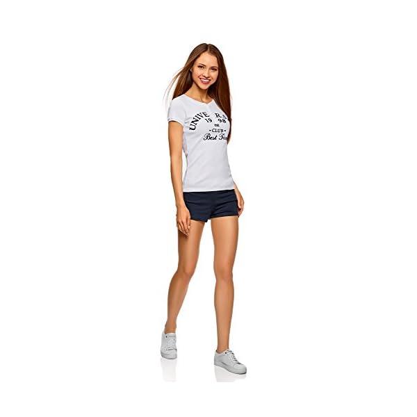 oodji Ultra Donna Pantaloncini Basic in Maglia (Pacco di 5) 5 spesavip