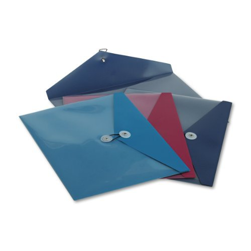 Pendaflex 90016 ViewFront Standard Pocket Poly Booklet Envelope, 11 x 9 1/2 Inches, 4/Pack by ()