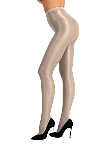 7b1f2e87363 YiZYiF Women s Ultra Shine Oil Socks 70D Thickness Dance Tights Pantyhose  Stockings Nude One Size