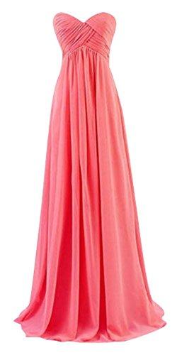 Gold Kleid Red Damen Drasawee Watermelon Bandeau RfPxqt
