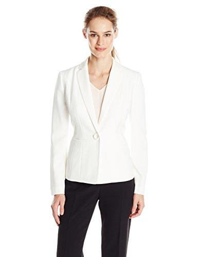 Kasper Women's Stretch Crepe Jacket, Vanilla Ice, 8