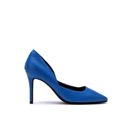 FLYRCX La moda femenina sexy simple sugerencia de personalidad superficial de fino cuero cuero partido zapatos zapatos de tacones altos c