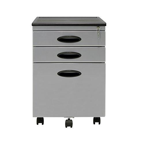 Attractive Calico Designs File Cabinet In Silver 51102
