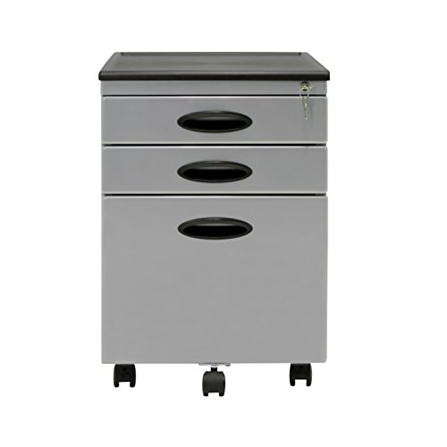 Calico Designs File Cabinet in Silver 51102 - Filing Cabinet Casters
