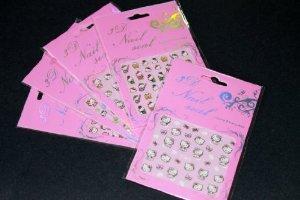 Hello Kitty Nail Art Sticker - 5 pack Mixed (Hello Kitty Pop Art)