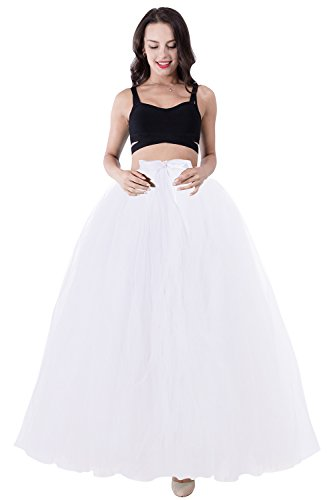 Skirt Prom Party Dress - Babyonlinedress Babyonline Women White Tulle Tutu Skirt Wedding Party Prom Skirt Underskirt