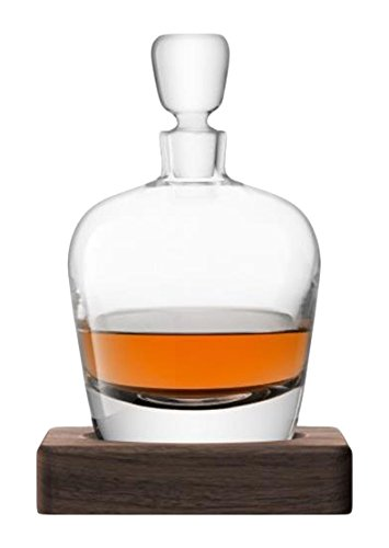 LSA International Whisky Arran Decanter, 33.8 fl. oz., Clear/Walnut by LSA International