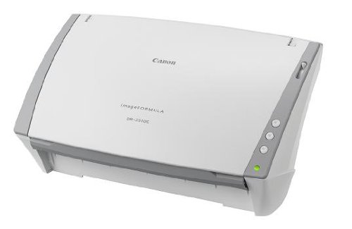 Canon document scanner-imageFORMULA DR-2510C A4 for CIS sensor reading speed A4 colour 25 ppm, A4 black and white 25 sheets / min feed count 50 sheets