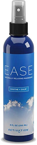 ACTIVATION - Ease Magnesium Spray - Pure Magnesium for Joint and Muscle Pain, Leg Cramp Relief - Sleep Supplement for Restless Leg Syndrome Relief - Includes eBook, 8 - Oz Bottle Lotion Spray 8
