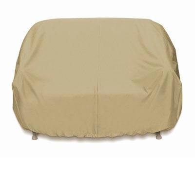 Two Dogs Designs Smart Living 2D-PF63365 Loveseat Cover With Level 4 UV Protection, Khaki