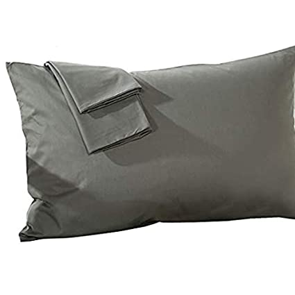 Toddler Pillowcase Dark Gray Stripe Zipper Closer Travel Pillow Case 14x20 Size Natural Cotton Zipper Pillow Cases Set of 2 Travel Pillowcase 600 Thread Count 100/% Egyptian Cotton 2 Pack