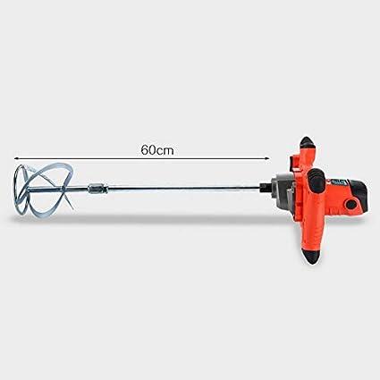 2100W Batidor de pintura Herramienta de alta resistencia para mortero de cemento de pintura de yeso con doble engranaje baja velocidad 6 lechada cemento velocidad batidora el/éctrica 14mm