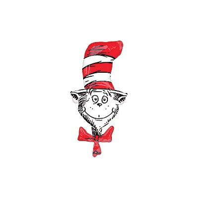 9 pc. Dr. Seuss The Cat In The Hat Happy Birthday Balloons Decoration Supplies Party Baby Shower: Toys & Games